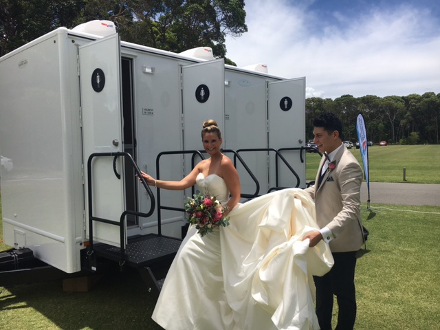 wedding hire - luxury wedding toilet hire